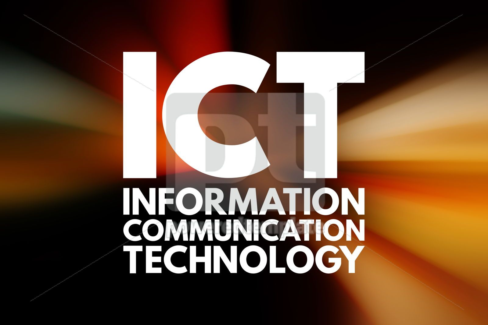 ICT - Information and Communication Technology acronym business, 16556, Business — PoweredTemplate.com