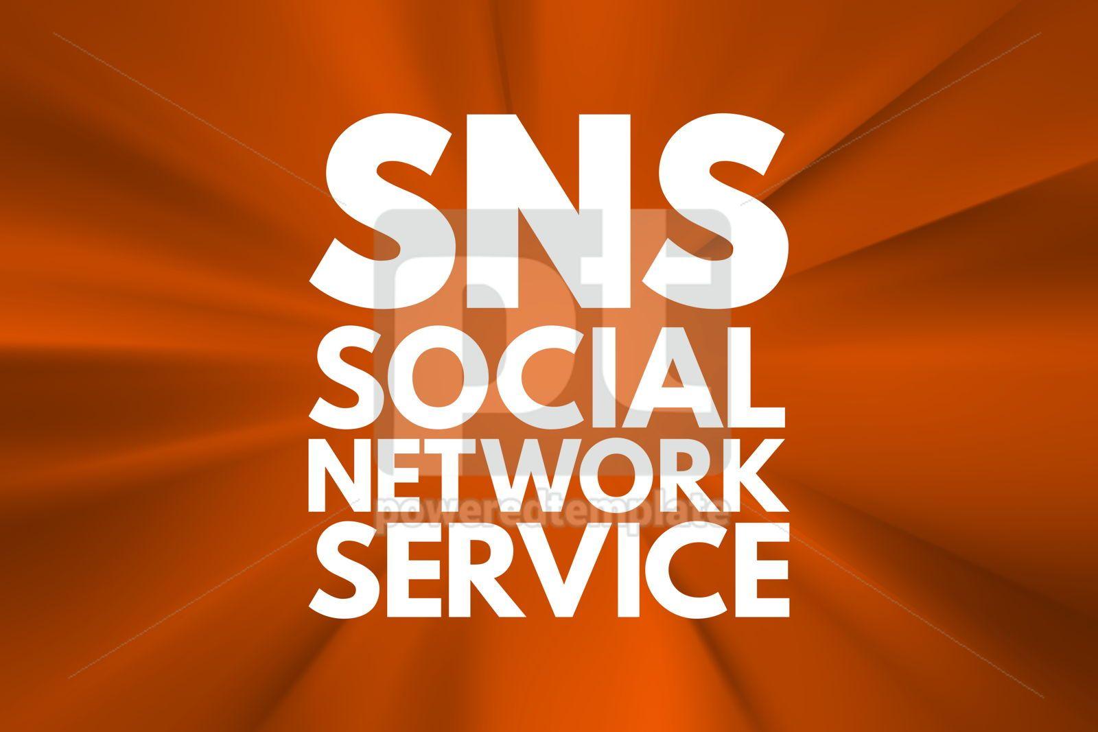 SNS - Social Network Service acronym concept background, 16566, Business — PoweredTemplate.com