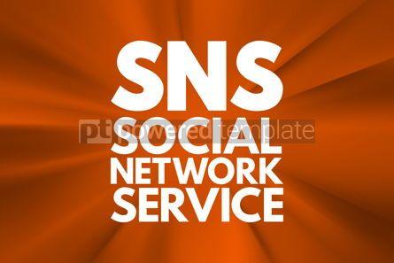 Business: SNS - Social Network Service acronym concept background #16566