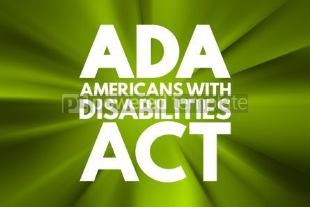 Business: ADA - Americans with Disabilities Act acronym concept backgroun #16567