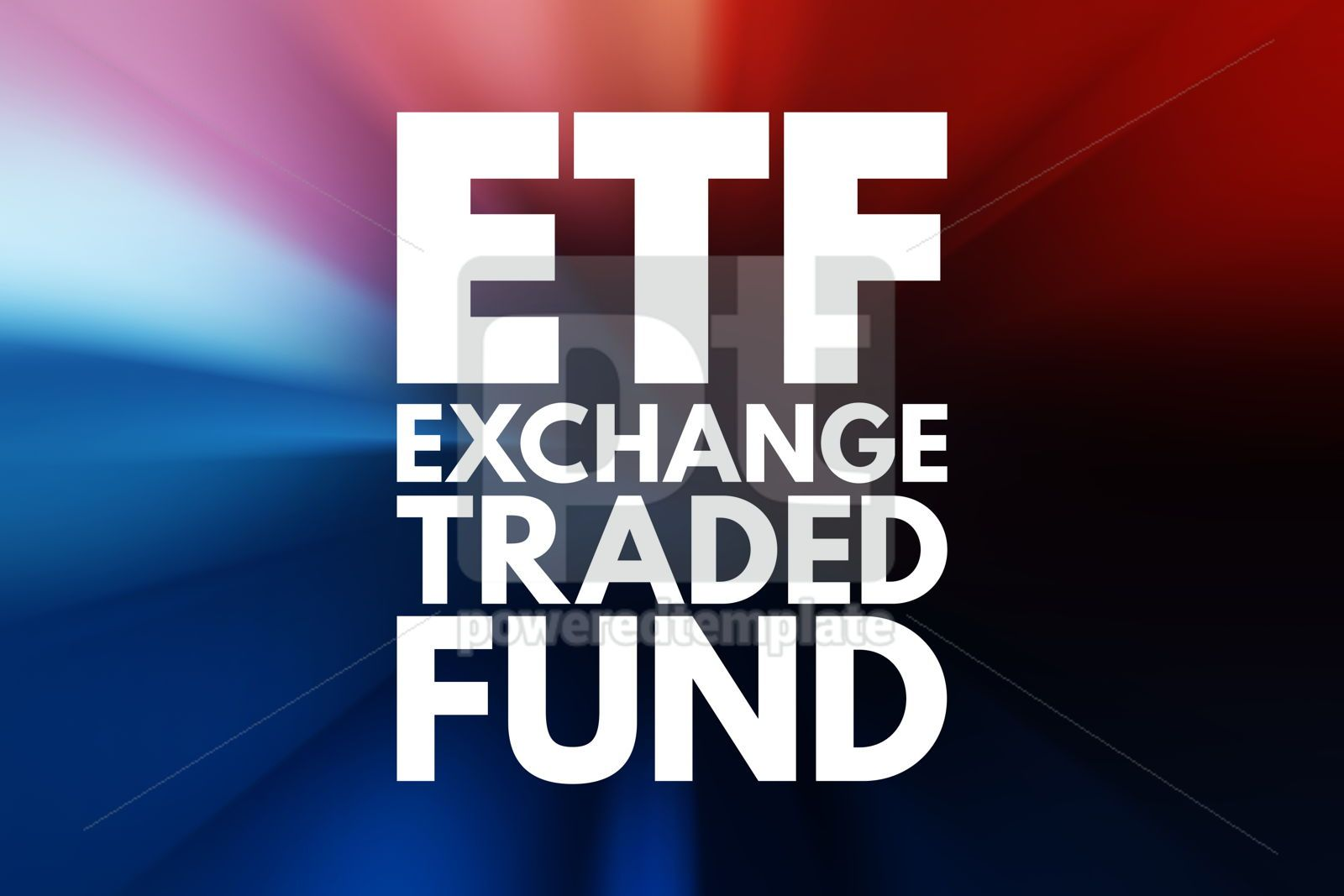 ETF - Exchange Traded Fund acronym business concept background, 16570, Business — PoweredTemplate.com