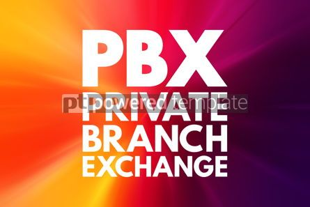 Business: PBX - Private Branch eXchange acronym business concept backgrou #16573