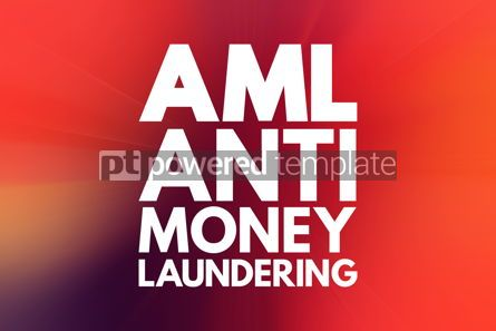 Business: AML - Anti Money Laundering acronym business concept background #16577