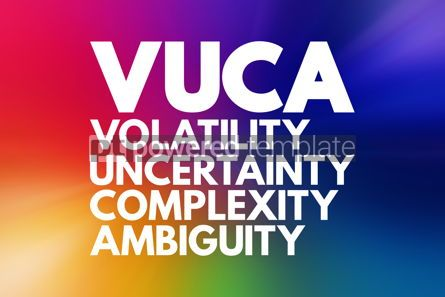 Business: VUCA - Volatility Uncertainty Complexity Ambiguity acronym b #16579