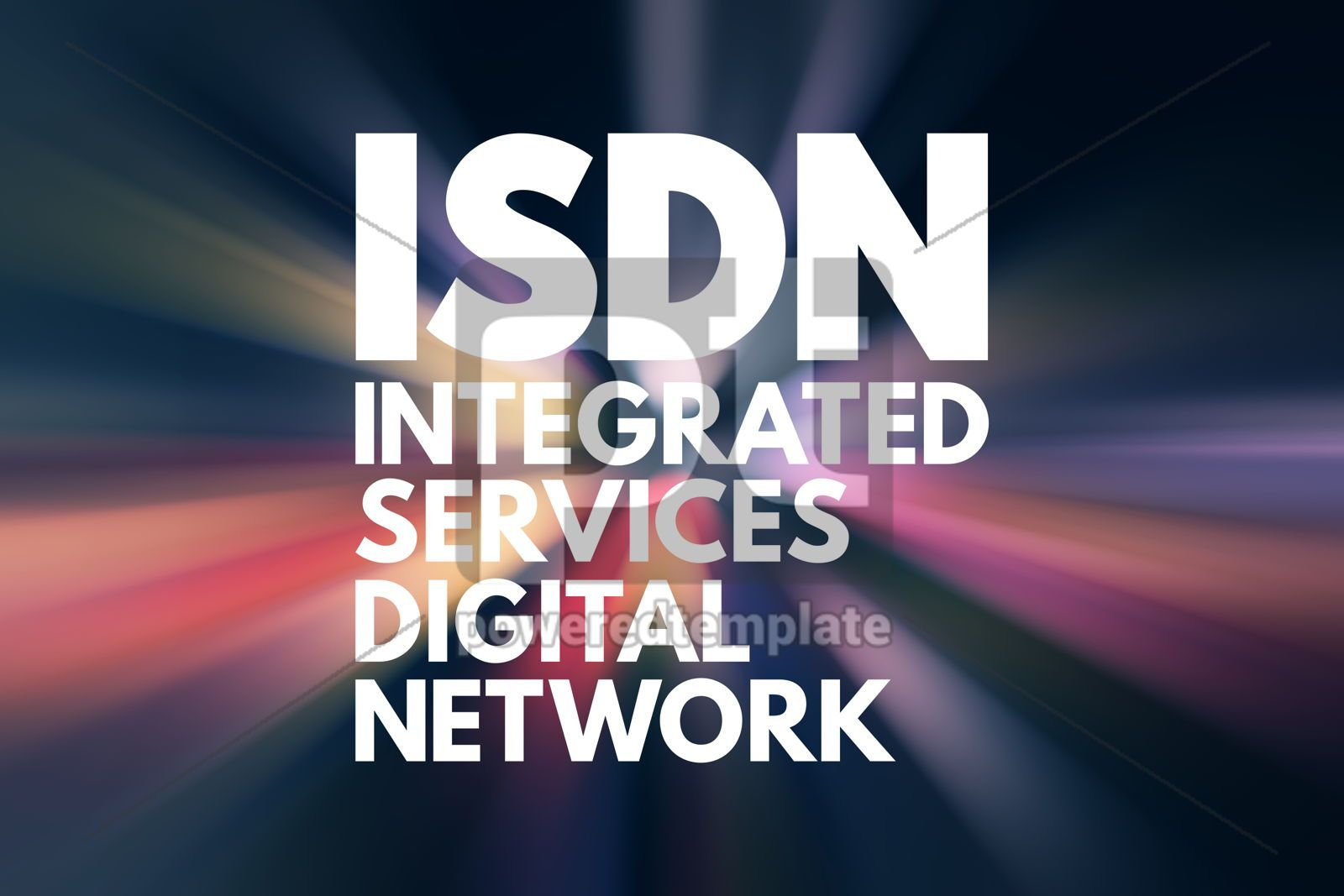 ISDN - Integrated Services Digital Network acronym technology c, 16586, Business — PoweredTemplate.com