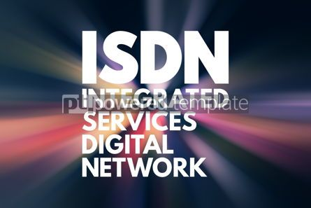 Business: ISDN - Integrated Services Digital Network acronym technology c #16586