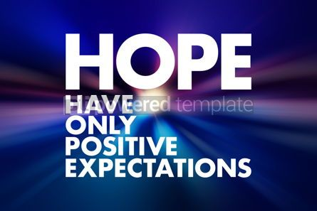 Business: HOPE - Have Only Positive Expectations acronym concept backgrou #16591