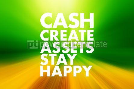Business: CASH - Create Assets Stay Happy acronym business concept backgr #16596