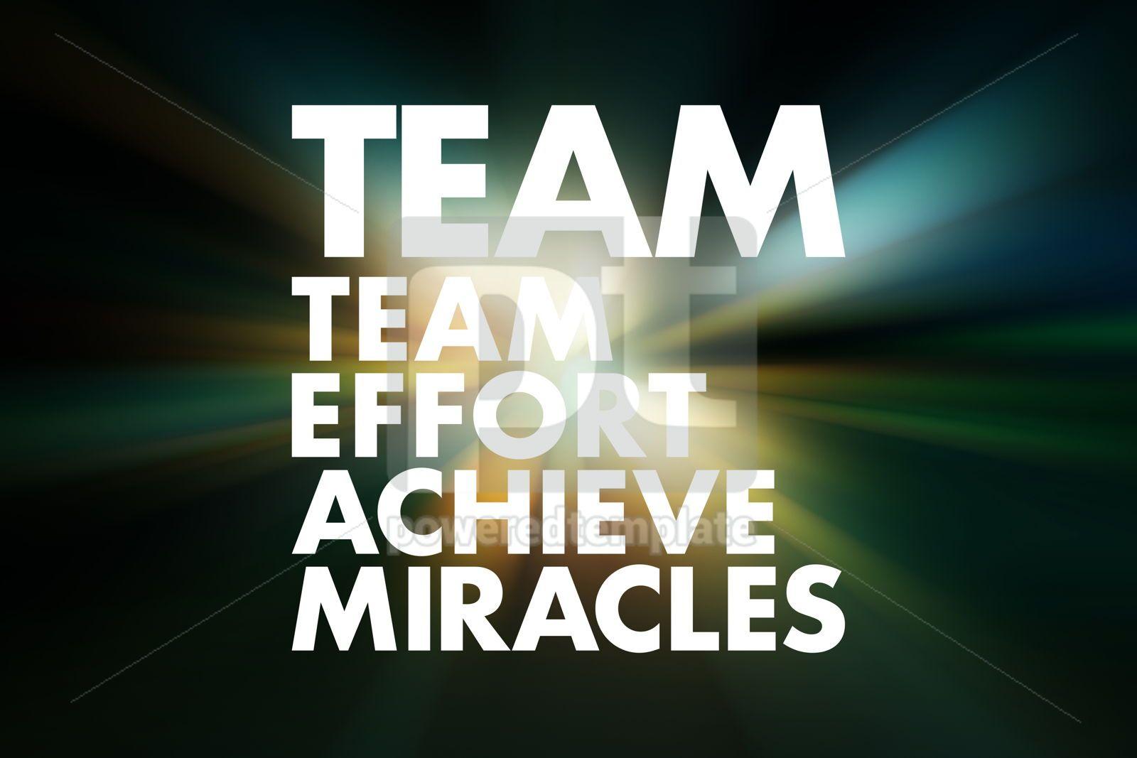 TEAM - Team Effort Achieve Miracles acronym business concept ba, 16597, Business — PoweredTemplate.com
