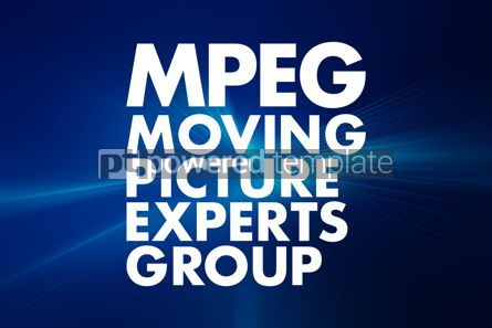 Business: MPEG - Moving Picture Experts Group acronym technology concept #16602