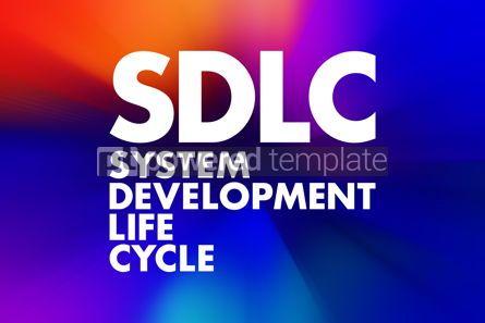 Business: SDLC - System Development Life Cycle acronym business concept b #16611