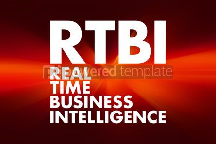 Business: RTBI - Real Time Business Intelligence acronym business concept #16613