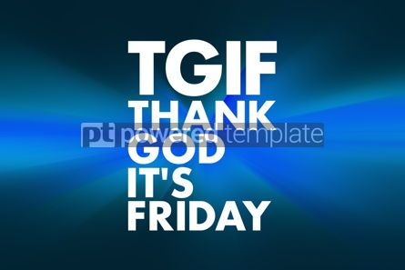Business: TGIF - Thank God It's Friday acronym concept background #16614