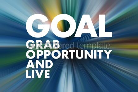 Business: GOAL - Grab Opportunity And Live acronym business concept backg #16617