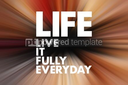 Business: LIFE - Live It Fully Everyday acronym business concept backgrou #16619