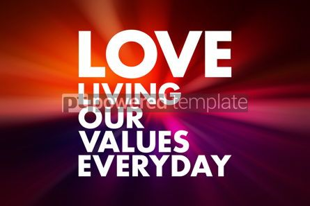Business: LOVE - Living Our Values Everyday acronym business concept back #16621