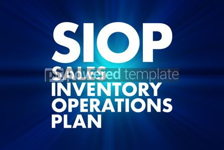 Business: SIOP - Sales Inventory Operations Plan acronym business concept #16626