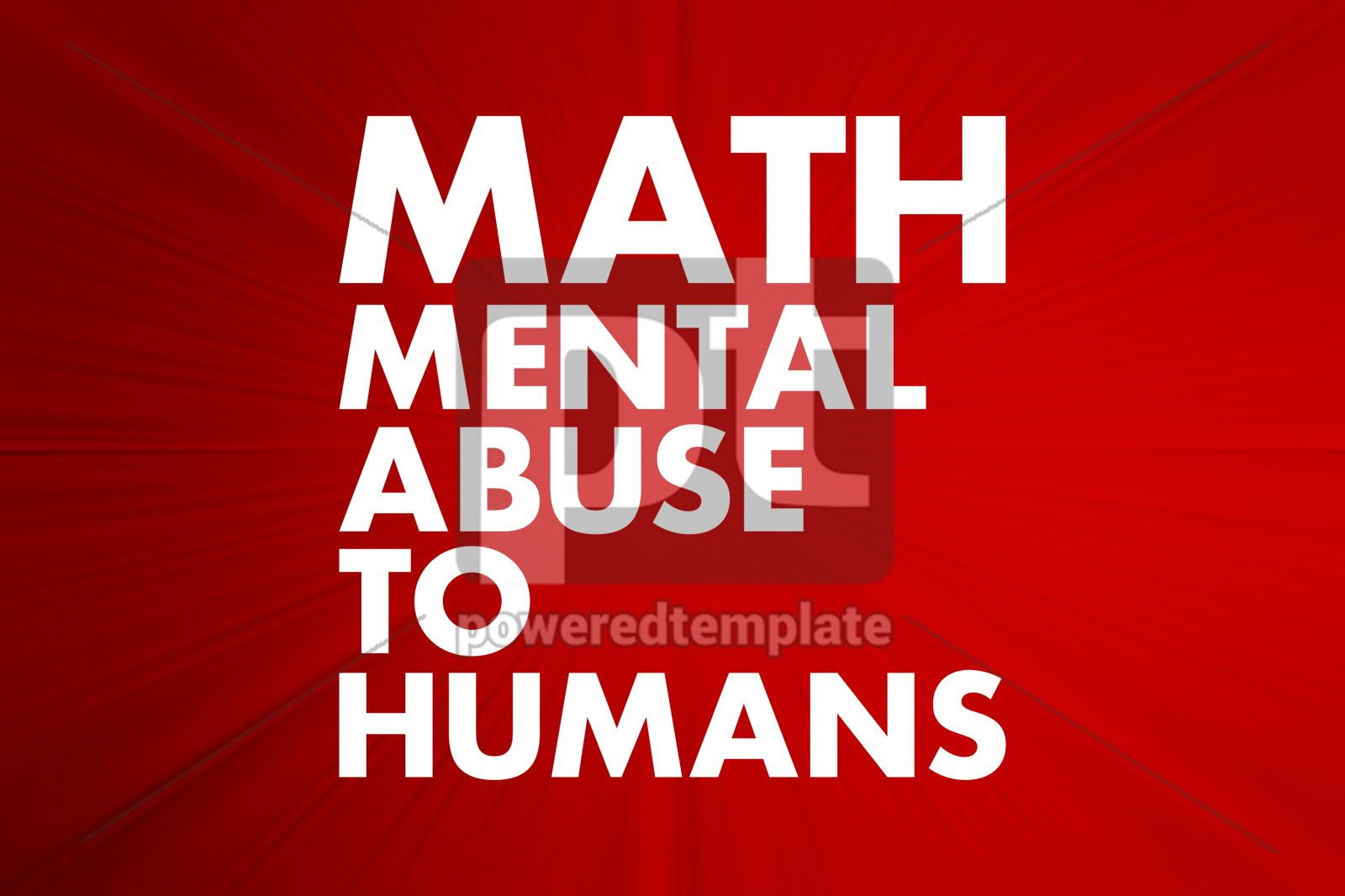MATH - Mental Abuse To Humans acronym concept background, 16636, Business — PoweredTemplate.com
