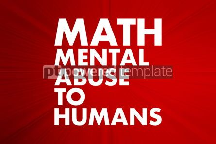 Business: MATH - Mental Abuse To Humans acronym concept background #16636