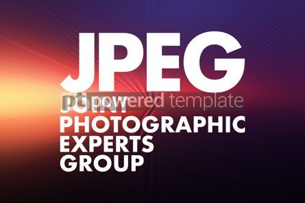 Business: JPEG - Joint Photographic Experts Group acronym concept backgro #16638
