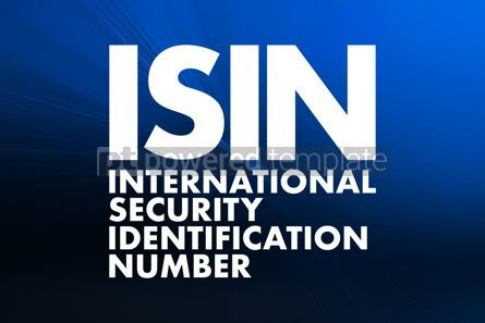 Business: ISIN - International Security Identification Number acronym bus #16640