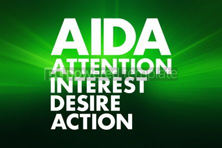 Business: AIDA - Attention Interest Desire Action acronym concept backgro #16648