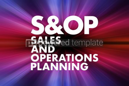 Business: S OP - Sales and Operations Planning acronym business concept b #16651