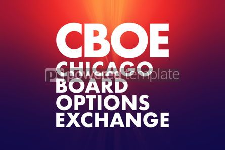 Business: CBOE - Chicago Board Options Exchange acronym business concept #16653
