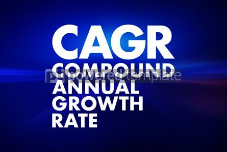 Business: CAGR - Compound Annual Growth Rate acronym business concept bac #16655