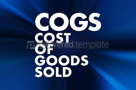 Business: COGS - Cost of Goods Sold acronym business concept background #16660
