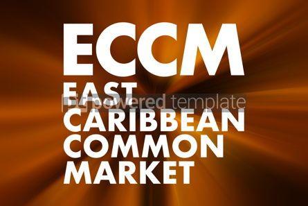 Business: ECCM - East Caribbean Common Market acronym business concept ba #16664