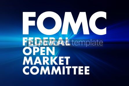 Business: FOMC - Federal Open Market Committee acronym business concept b #16671