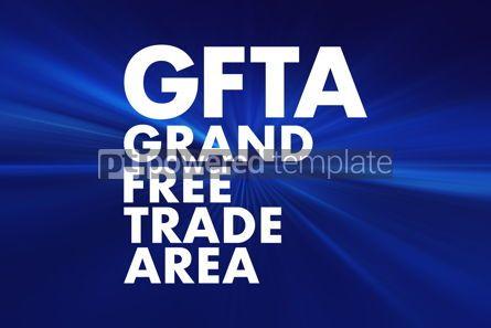 Business: GFTA - Grand Free Trade Area acronym business concept backgroun #16680