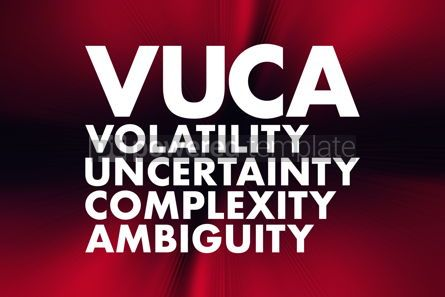 Business: VUCA - Volatility Uncertainty Complexity Ambiguity acronym b #16681