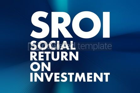Business: SROI - Social Return On Investment acronym business concept bac #16686