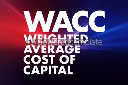Business: WACC - Weighted Average Cost of Capital acronym business concep #16688