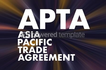 Business: APTA - Asia Pacific Trade Agreement acronym business concept ba #16692