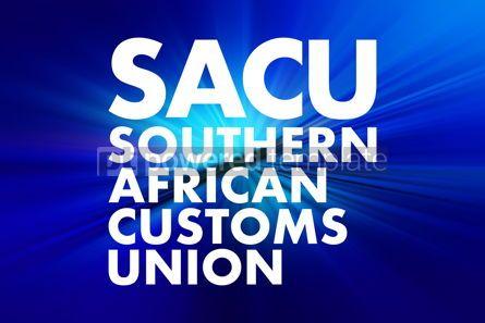 Business: SACU - Southern African Customs Union acronym concept backgroun #16694