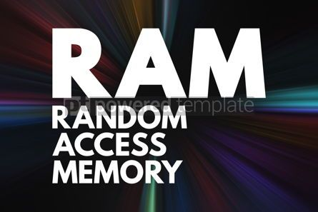 Business: RAM - Random Access Memory acronym technology concept backgroun #16699