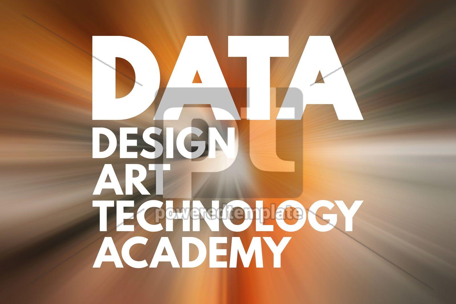 DATA - Design Art Technology Academy acronym concept background, 16701, Business — PoweredTemplate.com