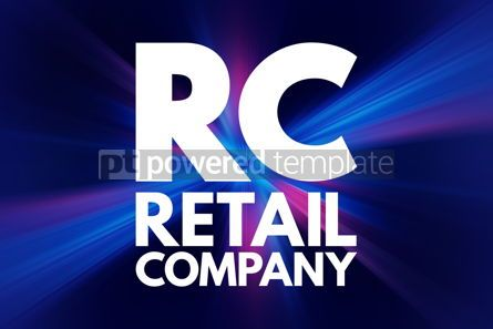 Business: RC - Retail Company acronym business concept background #16703
