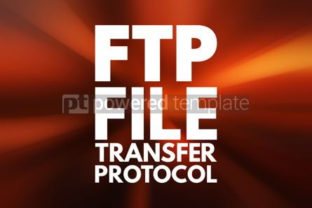 Business: FTP - File Transfer Protocol acronym technology concept backgro #16708