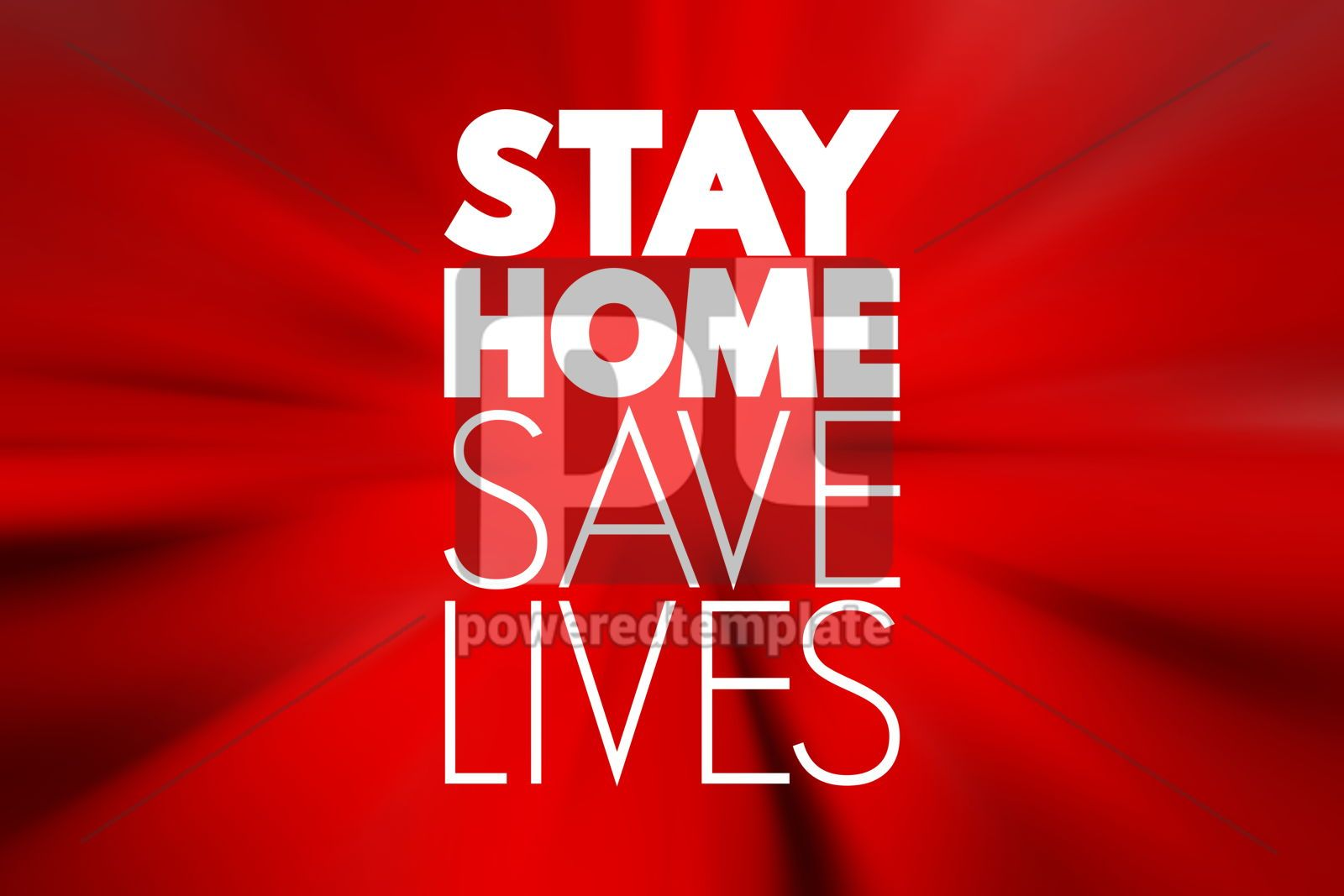 Stay Home Save Lives text quarantine coronavirus epidemic conce, 16710, Business — PoweredTemplate.com