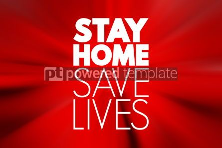 Business: Stay Home Save Lives text quarantine coronavirus epidemic conce #16710