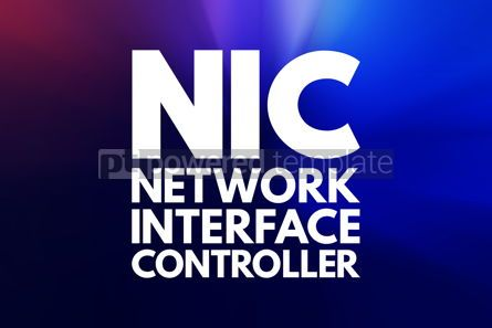 Business: NIC - Network Interface Controller acronym technology concept b #16715