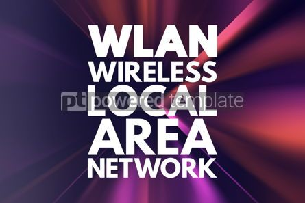 Business: WLAN - Wireless Local Area Network acronym technology concept b #16719