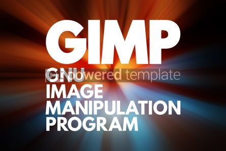 Business: GIMP - Gnu Image Manipulation Program acronym concept backgroun #16720