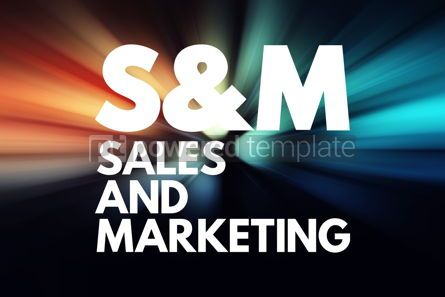 Business: S M - Sales and Marketing acronym business concept background #16722