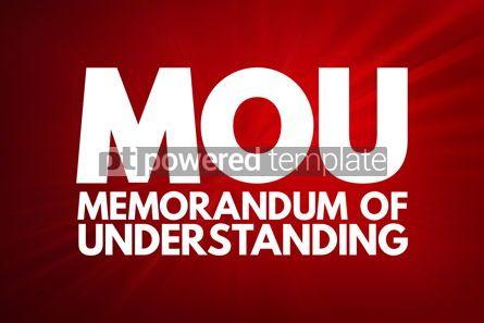 Business: MOU - Memorandum Of Understanding acronym business concept back #16728
