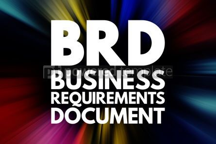 Business: BRD - Business Requirements Document acronym concept background #16730